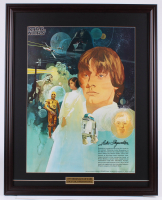 Vintage 1977 Coca Cola Star Wars 24.5x30.5 Custom Framed Poster Display at PristineAuction.com