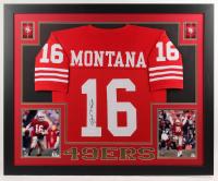 Joe Montana Signed 35x43 Custom Framed Jersey (JSA Hologram) at PristineAuction.com