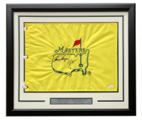 Jack Nicklaus & Gary Player Signed Masters 22x27 Custom Framed Golf Pin Flag Display (JSA LOA) at PristineAuction.com