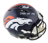 "Terrell Davis Signed Broncos Full-Size Authentic On-Field Speed Helmet Inscribed ""2008 Yds 1998"" (Radtke COA) at PristineAuction.com"