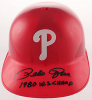 "Pete Rose Signed Phillies Full-Size Batting Helmet Inscribed ""1980 W.S. Champs"" (Fiterman Sports Hologram) at PristineAuction.com"