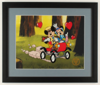 """Walt Disney's Mickey & Minnie Mouse """"Nifty Nineties"""" 16x19 Custom Framed Animation Serigraph Display at PristineAuction.com"""