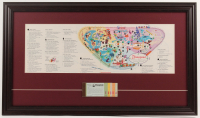 Disneyland 17x29 Custom Framed 1959 Original Map Display with Ticket Booklet at PristineAuction.com