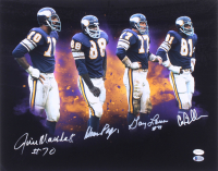 """Vikings """"Purple People Eaters"""" 16x20 Photo Signed by (4) with Carl Eller, Jim Marshall, Alan Page & Gary Larsen (TSE COA & Beckett Hologram) at PristineAuction.com"""