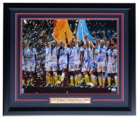 2015 Team USA World Cup 22x27 Custom Framed Photo Display Team-Signed by (11) with Alex Morgan, Carli Lloyd, Megan Rapinoe, Julie Johnston (JSA COA & TriStar Hologram) at PristineAuction.com