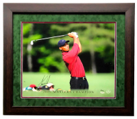 "Tiger Woods Signed LE ""2002 Masters Champion"" 22x27 Custom Framed Photo Display (UDA Hologram & Steiner COA) at PristineAuction.com"