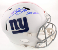"Saquon Barkley Signed Giants Full-Size Matte White Speed Helmet Inscribed ""2018 OROY"" (Beckett COA) at PristineAuction.com"