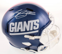 Saquon Barkley Signed Giants Full-Size Speed Helmet (Beckett COA) at PristineAuction.com