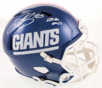 "Saquon Barkley Signed Giants Full-Size Speed Helmet Inscribed ""2018 OROY"" (Beckett COA) at PristineAuction.com"