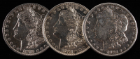 Lot of (3) Morgan Silver Dollars with 1879, 1921-S, & 1921 at PristineAuction.com