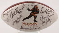 Heisman Winners Logo Football Signed by (26) with Tony Dorsett, Doak Walker, Earl Campbell, Roger Staubach, Larry Kelley (JSA ALOA) at PristineAuction.com