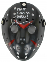 """Ari Lehman Signed """"Friday the 13th"""" Mask Inscribed """"First F****** Jason!"""" (Beckett COA) at PristineAuction.com"""