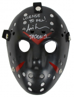 "Ari Lehman Signed ""Friday the 13th"" Mask Inscribed ""License To Kill!"" & ""Jason 1"" (Beckett COA) at PristineAuction.com"