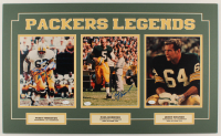 "Fuzzy Thurston, Paul Hornung, & Jerry Kramer Signed ""Packers Legends"" 18x30 Custom Matted (3) 8x10 Photos Display (JSA COA) at PristineAuction.com"