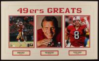 Jerry Rice, Joe Montana & Steve Young Signed 49ers 18x30 Custom Matted Photo Display (SOP COA, Montana Hologram, & Rice Hologram) at PristineAuction.com