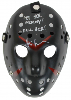 """Ari Lehman Signed """"Friday the 13th"""" Mask Inscribed """"Get Her Mommy!"""" & """"Kill Her!"""" (Beckett COA) at PristineAuction.com"""