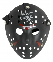 """Ari Lehman Signed """"Friday the 13th"""" Mask Inscribed """"I Never Die"""" & """"JASON 1"""" (Beckett COA) at PristineAuction.com"""