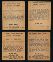 1941 Play Ball Complete Set of (72) Baseball Cards with #15 Joe Cronin, #13 Jimmie Foxx, #14 Ted Williams, #71 Joe DiMaggio, #63 Dom DiMaggio RC, #54 Pee Wee Reese RC at PristineAuction.com