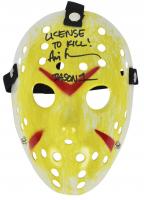 "Ari Lehman Signed ""Friday the 13th"" Mask Inscribed ""License To Kill!"" & ""Jason 1"" (Beckett COA) at PristineAuction.com"