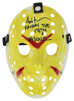 """Ari Lehman Signed """"Friday the 13th"""" Mask Inscribed """"Friday The 13th"""" & """"JASON 1"""" (Beckett COA) at PristineAuction.com"""