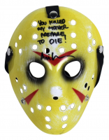 "Ari Lehman Signed ""Friday the 13th"" Mask Inscribed ""You Killed My Mother, Prepare To Die!"" (Beckett COA) at PristineAuction.com"