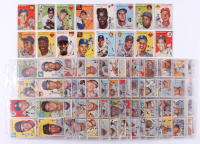 1954 Topps Complete Set of (250) Baseball Cards with #250 Ted Williams, #128 Hank Aaron RC, #94 Ernie Banks RC, #10 Jackie Robinson, #20 Warren Spahn, #17 Phil Rizzuto at PristineAuction.com