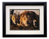 "2019 The Lion King ""Return to the Pride Lands"" 16x18 Custom Framed Photo Display at PristineAuction.com"