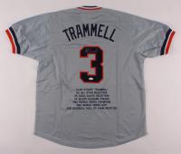 Alan Trammell Signed Career Highlight Stat Jersey (JSA COA) at PristineAuction.com