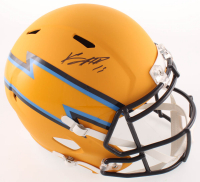 Keenan Allen Signed Chargers Full-Size AMP Alternate Speed Helmet (Beckett COA) at PristineAuction.com