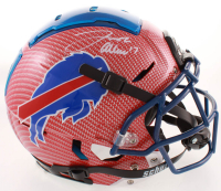 Josh Allen Signed Bills Full-Size Authentic On-Field F7 Hydro-Dipped Helmet (Beckett COA) at PristineAuction.com