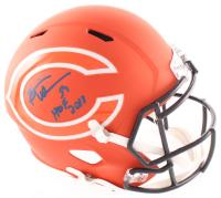 """Brian Urlacher Signed Bears Full-Size AMP Alternate Speed Helmet Inscribed """"HOF 2018"""" (Beckett COA) at PristineAuction.com"""
