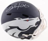 Clinton Portis Signed Broncos Full-Size AMP Alternate Speed Helmet (Beckett COA) at PristineAuction.com