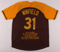 Dave Winfield Signed Career Highlight Stat Jersey (JSA COA) at PristineAuction.com