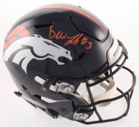 Drew Lock Signed Broncos Full-Size Authentic On-Field Speedflex Helmet (Beckett COA) at PristineAuction.com