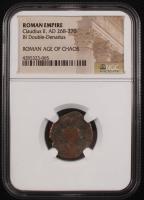 Certified Roman Coin of Emperor Claudius II AD 268-270 BI Double-Denarius (NGC Encapsulated) at PristineAuction.com