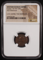 Certified Roman Coin of Emperor Gratian AD 367-383 AE3 Nummus (NGC Encapsulated) at PristineAuction.com