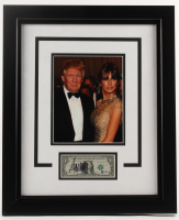 Donald Trump Signed 19.25x23.25 Custom Framed Dollar Bill Display (Beckett LOA) at PristineAuction.com