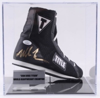 Mike Tyson Signed Title Boxing Shoe with Display Case (JSA COA) at PristineAuction.com
