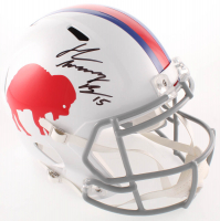 "John ""Smokey"" Brown Signed Bills Full-Size Throwback Speed Helmet (JSA COA) at PristineAuction.com"