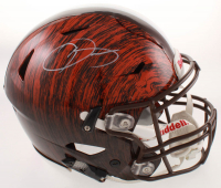 Odell Beckham Jr. Signed Browns Full-Size Authentic On-Field Hydro-Dipped SpeedFlex Helmet (JSA COA) at PristineAuction.com