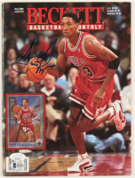 Scottie Pippen & Michael Finley Signed 1996 Beckett Basketball Monthly Magazine (JSA COA & Beckett COA) at PristineAuction.com