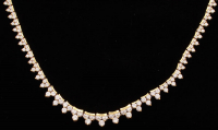 18k Yellow Gold & Diamond Necklace signed La Triomphe at PristineAuction.com