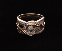 14kt White Gold Diamond Bridal Set at PristineAuction.com