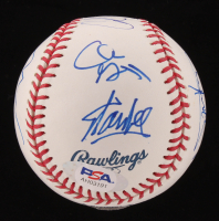 Marvel Avengers OML Baseball Cast-Signed by (8) with Stan Lee, Chris Evans, Clark Gregg, Chris Hemsworth, Jeremy Renner, Paul Rudd, Mark Ruffalo, & Cobie Smulders (PSA Hologram) at PristineAuction.com