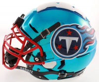 Eddie George Signed Titans Full-Size Authentic On-Field F7 Chrome Helmet (Beckett COA) at PristineAuction.com