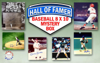 Schwartz Sports Baseball Hall of Famers Signed Mystery Box 8x10 Photo Series 3 (Limited to 100) - **Willie Mays & Carlton Fisk 16x20 Photo Redemptions** at PristineAuction.com