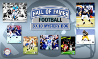 Schwartz Sports Football Hall of Famers Signed Mystery Box 8x10 Photo Series 8 (Limited to 100) - **Barry Sanders & Brian Urlacher 16x20 Photo Redemption** at PristineAuction.com