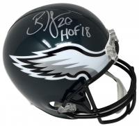 """Brian Dawkins Signed Eagles Full-Size Helmet Inscribed """"HOF 18"""" (JSA COA) at PristineAuction.com"""
