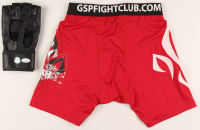 Lot of (2) Georges St-Pierre Signed UFC Items With Shorts & Glove (LOJO COA & JSA COA) at PristineAuction.com