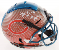 """Brian Urlacher Signed Bears Full-Size Authentic On-Field F7 Hydro-Dipped Helmet Inscribed """"HOF 2018"""" (Beckett COA) at PristineAuction.com"""